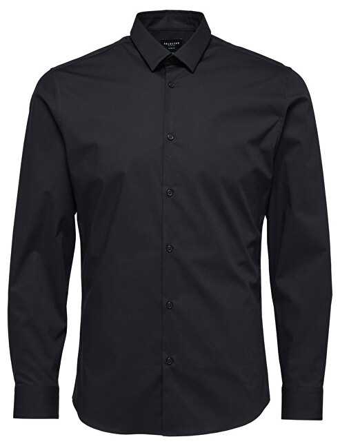 SELECTED HOMME Pánská košile SlimprestonClean Shirt Ls B Noos Black XL