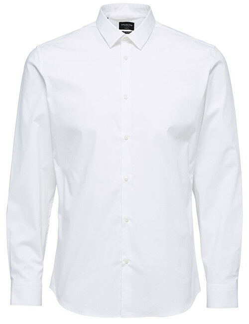 SELECTED HOMME Pánská košile SlimprestonClean Shirt Ls B Noos Bright White XXL