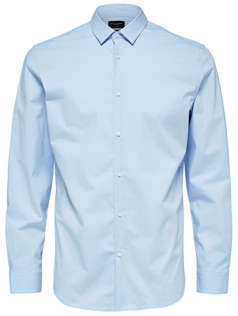 SELECTED HOMME Men´s shirt Slimpreston-Clean Shirt Ls B Noos Light Blue L