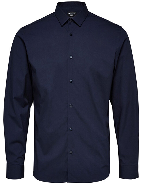 SELECTED HOMME Pánská košile SlimprestonClean Shirt Ls B Noos Navy Blazer XL