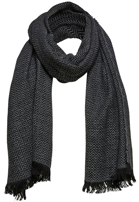 SELECTED HOMME Pánská šála SLHPER SCARF B Medium Grey Melange