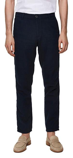 SELECTED HOMME Férfi nadrág SLHSTRAIGHT-PARIS LINEN PANTS W Dark Sapphire 36/34