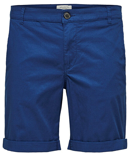 SELECTED HOMME Pánske kraťasy Straight-Paris Shorts W Noos Navy Peony M