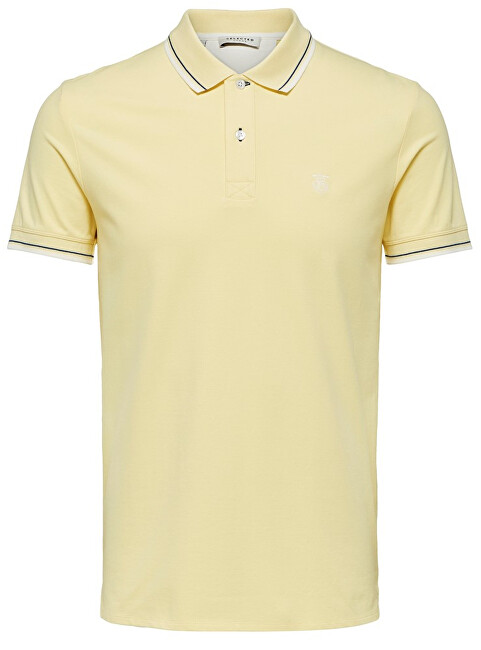 SELECTED HOMME Pánske polo triko Newseason Ss Polo W Noos Mellow Yellow M