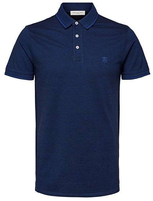 SELECTED HOMME Pánske polo triko Twist Ss Polo W Noos Limoges M