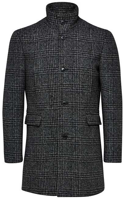 SELECTED HOMME Palton bărbătesc SLHMOSTO WOOL COAT B NOOS Grey L