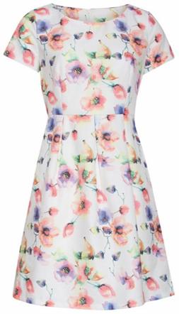 Smashed Lemon Dámske krátke šaty White 18195/01 M
