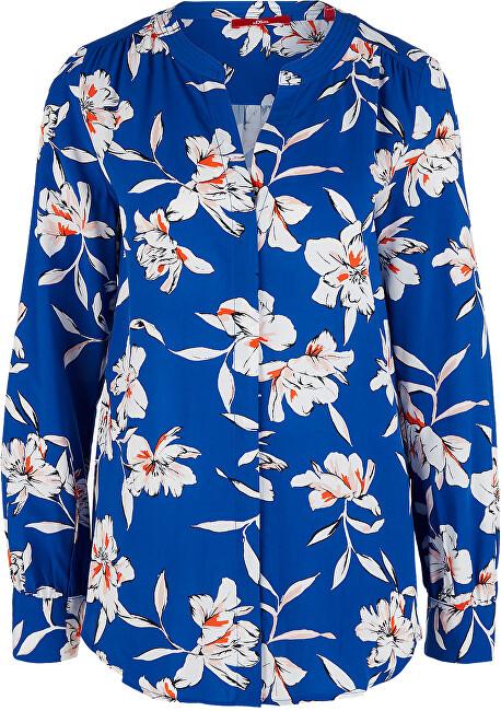 s.Oliver Dámska blúzka 14.002.11.2844.56A2 BLUE FLOWERS AOP 34