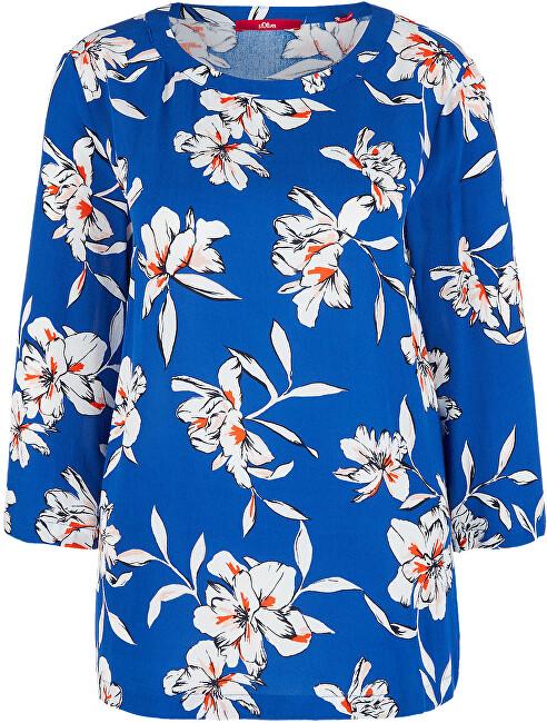 s.Oliver Dámska blúzka 14.002.19.2869 .56A2 Blue floral print 36