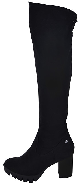 s.Oliver SLEVA - Dámské kozačky Black 5-5-25607-21-001