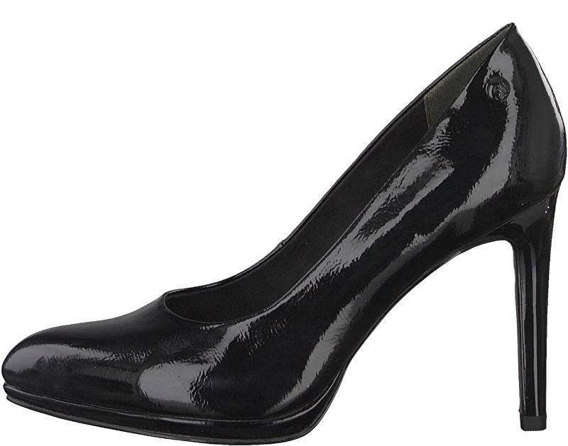 s.Oliver Pantofi cu toc pentru femei Black 5-5-22419-31-018 Black Patent 36
