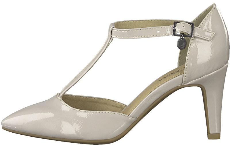 s.Oliver Pantofi pentru femei Lt Grey Patent 5-5-24405-22-219 37
