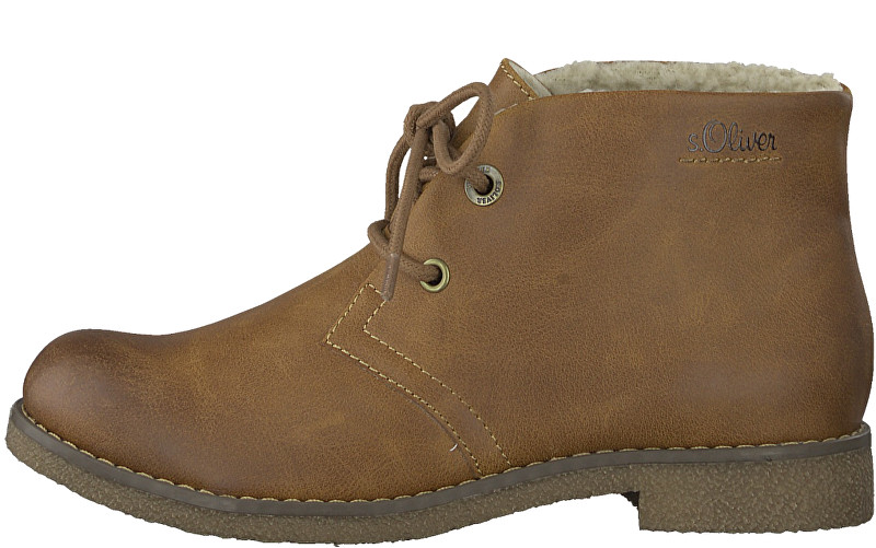 s.Oliver Dámske členkové topánky Cognac 5-5-26111-21-305 40