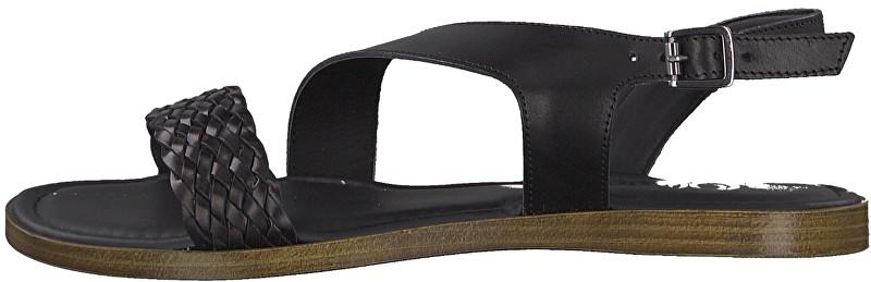 s.Oliver Dámske sandále 5-5-28127-32-001 Black 39