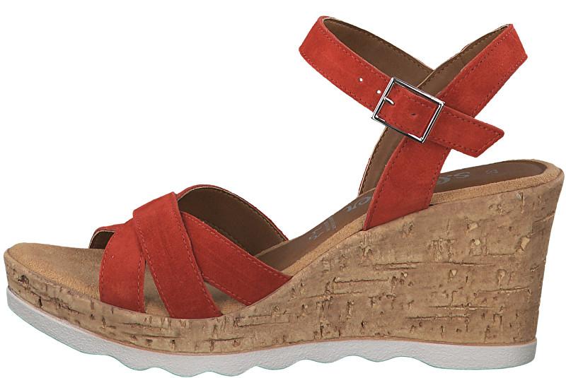 s.Oliver Dámske sandále Lipstick 5-5-28301-22-503 39