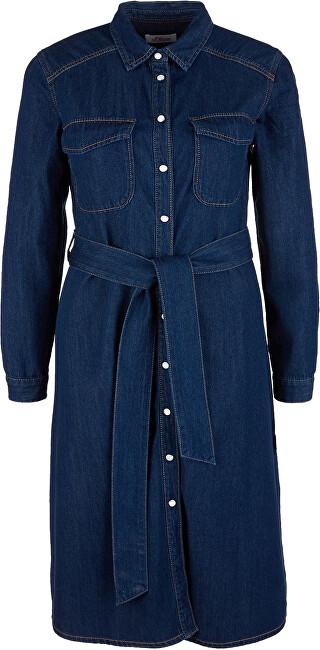s.Oliver Dámske šaty 14.002.82.7247.57Y5 Blue denim non stripes 36