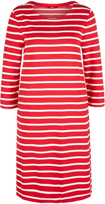 s.Oliver Dámske šaty 14.003.82.2968 .31G9 Vibrant coral stripes 34