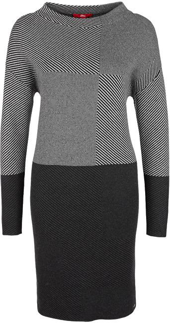 Oliver Dámske šaty 14.710.82.7148.97X0 Black-Grey 34 ab71d0e508