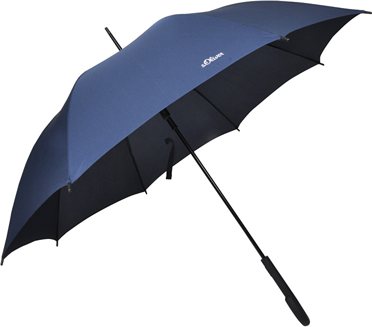 S.Oliver Dámský holový vystřelovací deštník City Uni Automatic - modrý 71461SO300