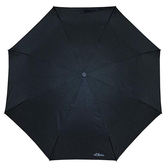 S.Oliver Dámský skládací mechanický deštník Fruit Cocktail - černý 70801SO001-2