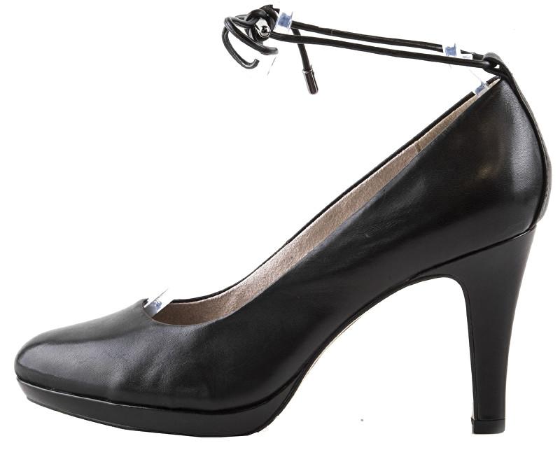 s.Oliver Elegantní dámské lodičky 5-5-22414-28-003 Black Leather 39