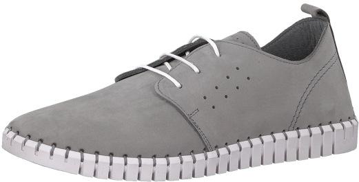 s.Oliver Elegantní pánské polobotky Leather LT Grey 5-5-13639-38-210 43