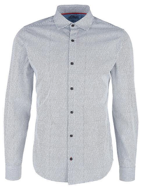 s.Oliver Pánska košeľa 13.901.21.6775.0100 White XL
