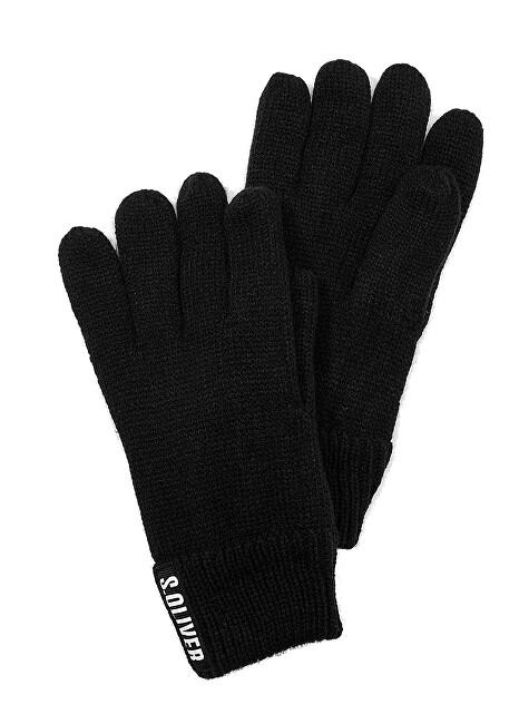 s.Oliver Mănuși pentru bărbați 97.911.96.3149.99D1 Grey / Black Plasat Print
