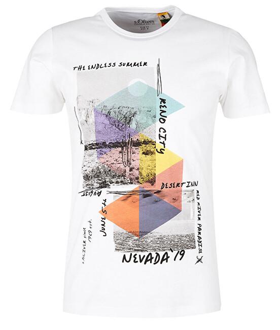 2ef8d2392 s.Oliver Pánske tričko 13.905.32.4277.0100 White M s.Oliver Pánske ...