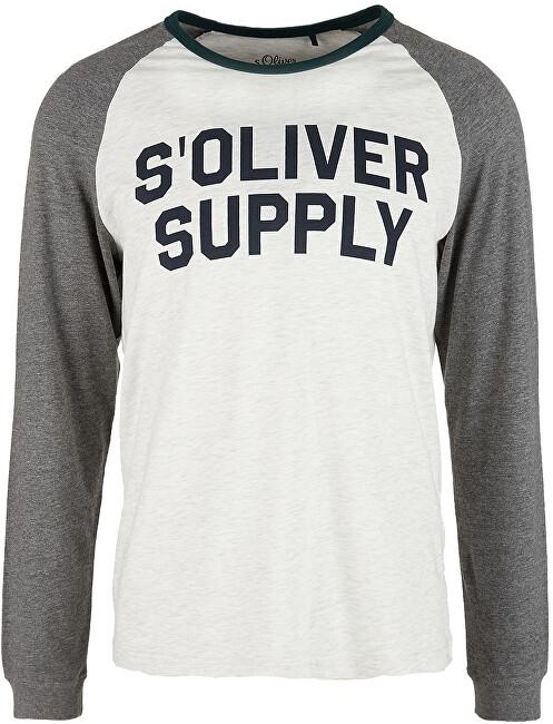 s.Oliver Pánske tričko s dlhým rukávom 13.910.31.7209 .0605 Marble S