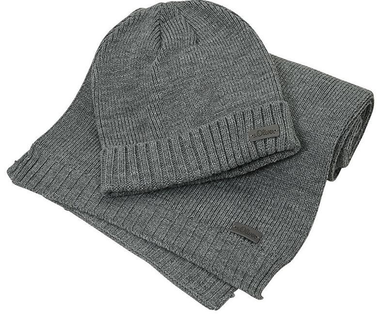 Oliver Pánský set zimní čepice a šály 97.811.91.3750.9730 Pewter Grey 87cf7277f0