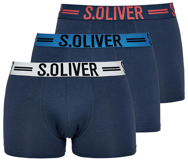 s.Oliver Set de boxeri bărbați 26.899.97.4229 .12C1 3x Blue L