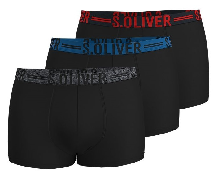 s.Oliver Set chiloți pentru bărbați 26.899.97.4229.12C3 3xBlack XL