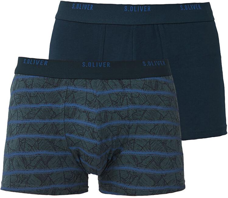s.Oliver Set pentru bărbați Boxer 26.899.97.4297.17A2 Blue AOP & Stripe țesute L