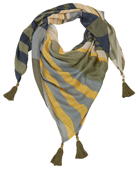 s.Oliver Scarf 39.903.91.3826.82D1 Brown Placed Print