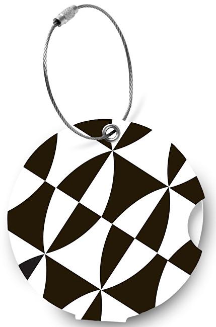 Suitsuit Menovka na kufor Addatag P133 Black and White