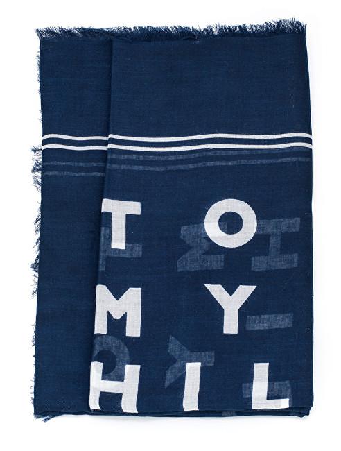 2c1620ff96a3 Tommy Hilfiger Dámska šál Logo Story Scarf Tommy Navy