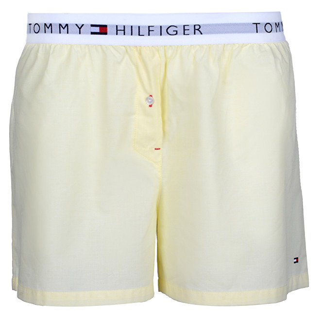 Tommy Hilfiger Dámske boxerky Woven Boxer End On End Yellow Cream UW0UW00691-708 S
