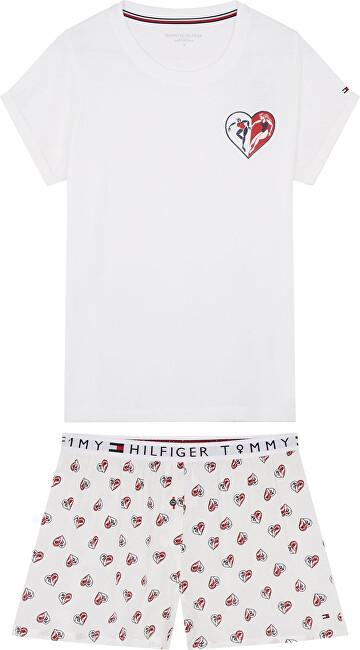 Tommy Hilfiger Dámske pyžamo Ss Short Set Woven PVH Class ic White S