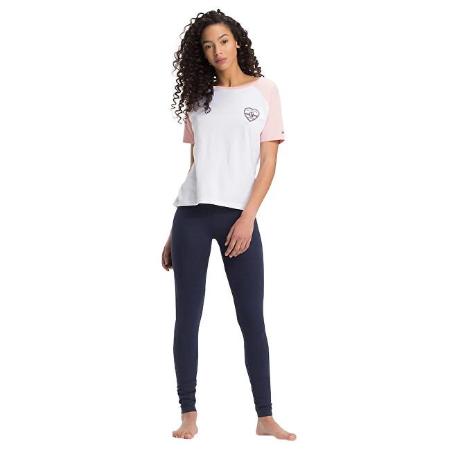 Tommy Hilfiger Pijamale pentru femei Valentine Ctn&Cotton Iconic White/Navy Blazer UW0UW01345-103 L