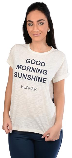 Tommy Hilfiger Dámske tričko Cotton Icon ic-Tommy Tee Sn Tee Ss Slogan  UW0UW00343- d10b5eb84c0