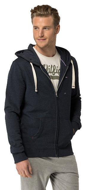 Tommy Hilfiger Masculin Hooded Icon Heavy weight Knit Zipthru Hoody 2S87905806-416 Navy Blazer L