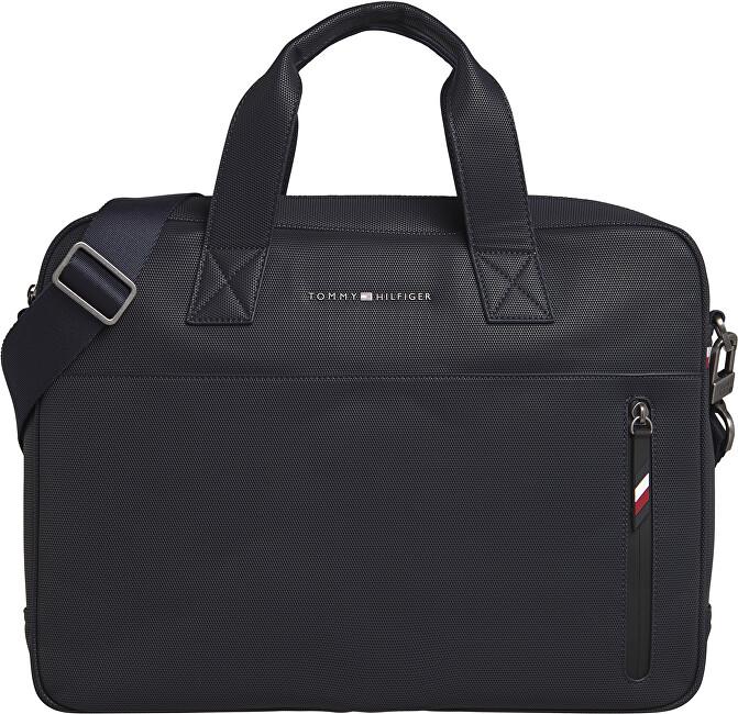Tommy Hilfiger Pánska taška na notebook Essen tial Pique Computer Bag Sky Captain