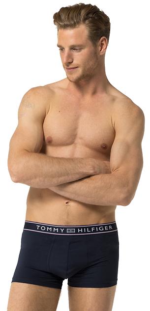 Tommy Hilfiger Boxeri pentru bărbați Stripe Micro Low Rise Trunk 1U87906052-416 Navy Blazer S