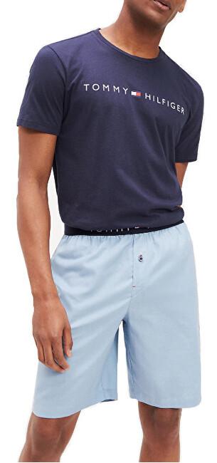 Tommy Hilfiger Pijamale pentru bărbați Cn Ss Short țesute Set UM0UM01596-016 Navy Blaze r / decolorată Denim L