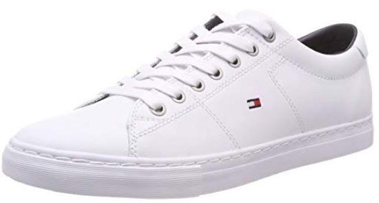 Tommy Hilfiger Pantofi din piele Essen din piele White bărbați FM0FM02157-100 46