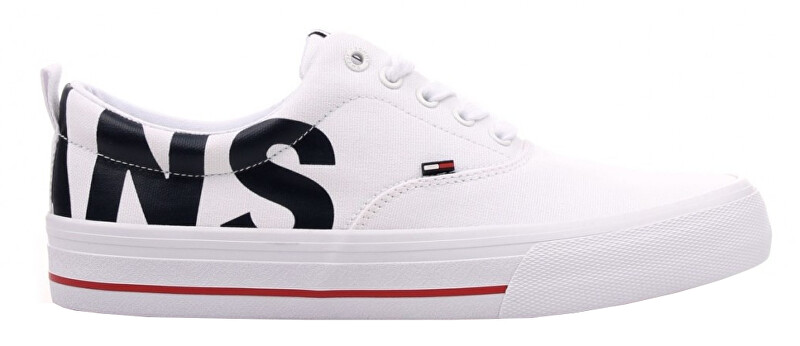 Tommy Hilfiger Tenisky Logo Print ed Lace Up Closure Round Toe Sneakers EM0EM00258-100 43