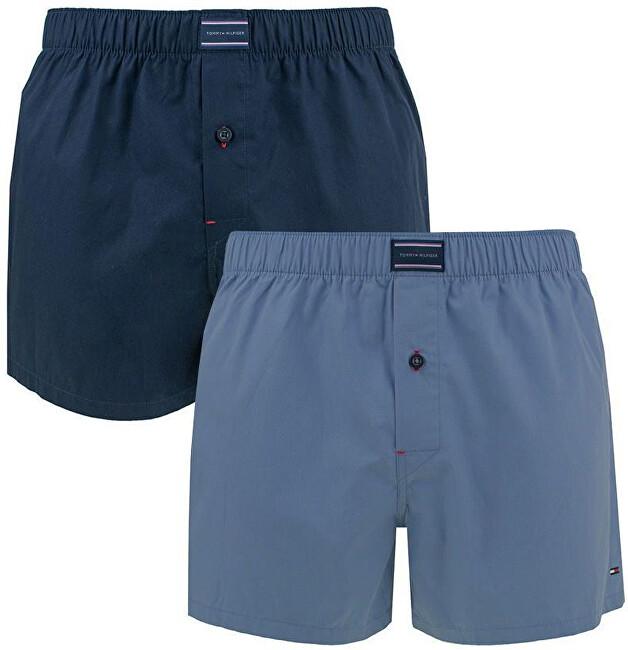 Tommy Hilfiger Lenjerie pentru bărbați 2P Woven Boxer UM0UM00006-085 Navy Blaze r / Blue Indigo XL