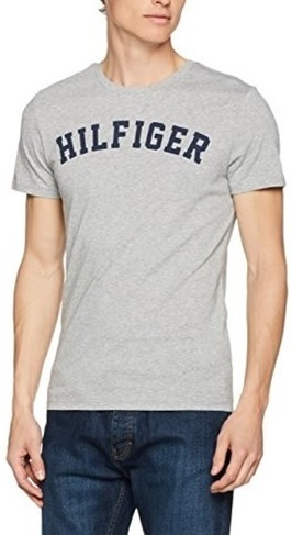 Tommy Hilfiger Pánske tričko Cotton Icon SS Tee Logo UM0UM00054 -004 Grey Heather L