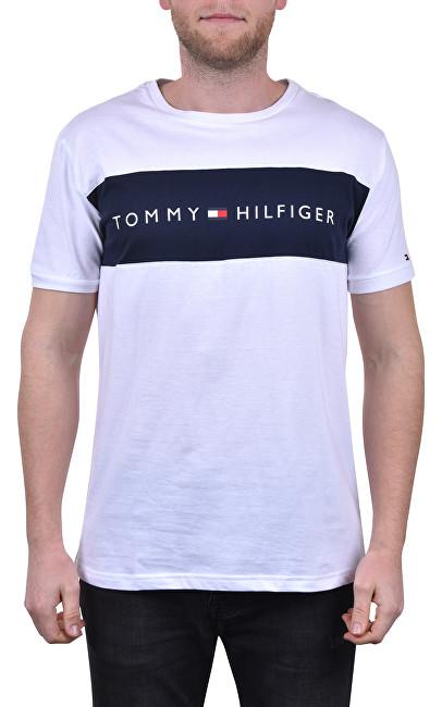 Tommy Hilfiger Tricou Tommy Original Cn Ss Tee Logo Flag UM0UM01170-100 White XL